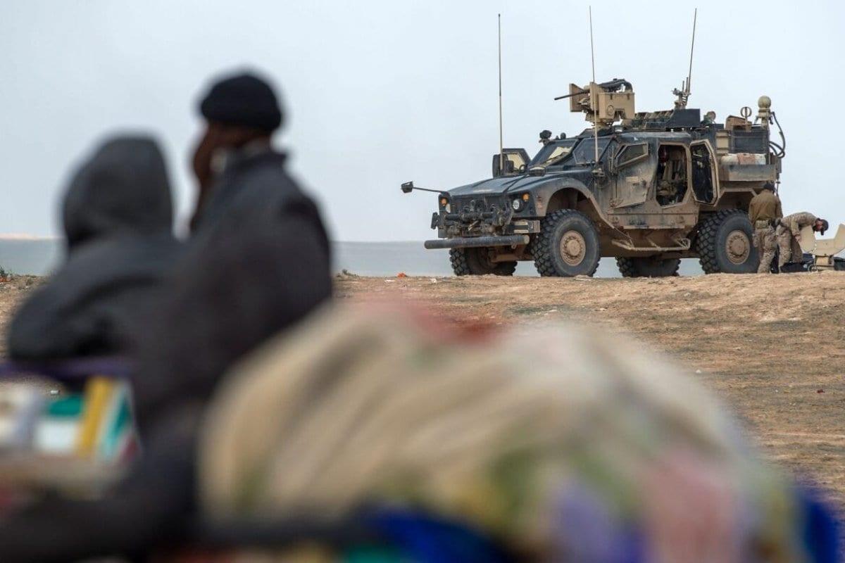Membros das forças especiais da coalizão apoiada pelos EUA contra o Daesh, na Síria, em 14 de fevereiro de 2019. [AFP/Getty Images]