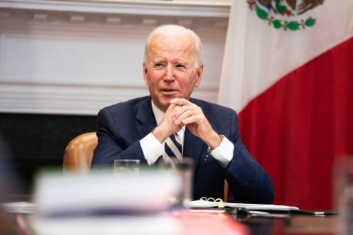 O modo como o relatório dos EUA designa a Palestina acoberta o colonialismo Presidente dos EUA Joe Biden em Washington, DC em 1 de março de 2021 [Anna Moneymaker-Pool / Getty Images ]