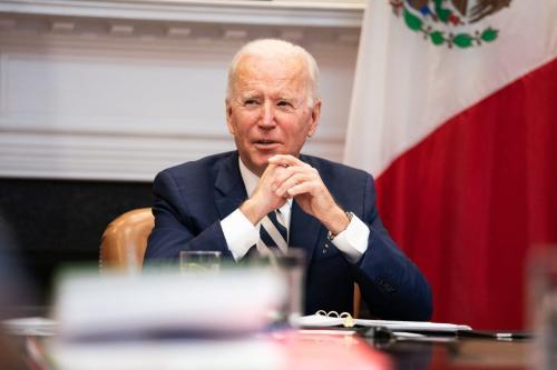 O presidente dos EUA, Joe Biden, em Washington, DC, em 1° de março de 2021. [Anna Moneymaker-Pool/Getty Images]