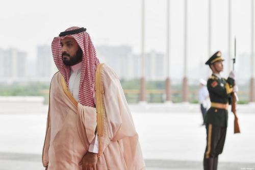 O príncipe herdeiro Mohammed bin Salman Al Saud (esq.) da Arábia Saudita chega ao Centro de Exposições de Hangzhou para participar da Cúpula do G20, em 4 de setembro de 2016, em Hangzhou, na China. [Etienne Oliveau/Getty Images]