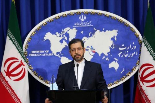 Porta-voz do Ministério das Relações Exteriores do Irã, Saeed Khatibzadeh, em Teerã, Irã, em 5 de outubro de 2020 [Fatemeh Bahrami /Agência Anadolu]