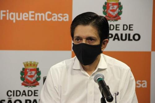 Vice prefeito da cidade de São Paulo, Ricardo Nunes, em 25 de março de 2021 [divulgação/Facebook Ricardo Nunes]