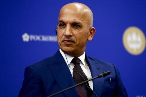 Ali Shareef Al-Emadi, Ministro das Finanças do Catar participa do 'Fórum Econômico Internacional de São Petersburgo' (SPIEF) em São Petersburgo, Rússia, em 6 de junho de 2019. [Sefa Karacan/Agência Anadolu]