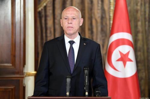 Presidente da Tunísia Kais Saied em Tripoli, Líbia em 17 de março de 2021 [Presidência da Tunísia/ Agência Anadolu]