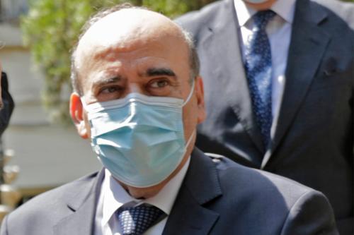 Ministro de Relações Exteriores do Líbano Charbel Wehbe em Beirute, 14 de agosto de 2020 [Anwar Amro/AFP/Getty Images]