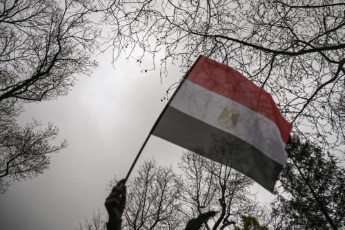 Bandeira egípcia [Ozan Koze/ AFP via Getty Images]