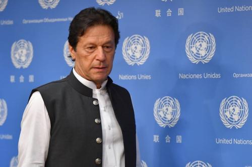 O primeiro-ministro do Paquistão Imran Khan em Nova York em 24 de setembro de 2019 [Angela Weiss/ AFP / Getty Images]