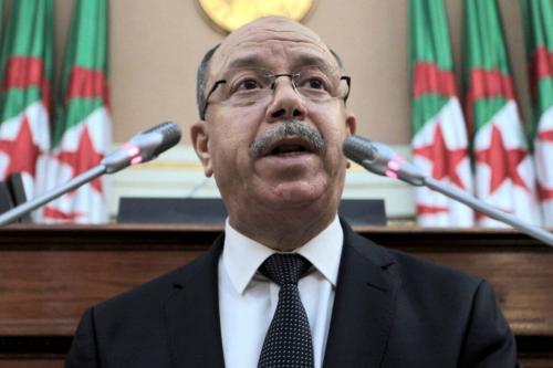 Ministro da Justiça da Argélia Belkacem Zeghmati na capital Argel, 25 de novembro de 2020 [AFP via Getty Images]