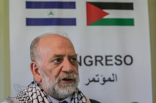 Rafael Antonio Araya Masry, Novo Presidente da Confederação Palestina da América Latina e do Caribe (COPLAC) em Manágua em 22 de outubro de 2017 [INTI OCON/AFP via Getty Images]