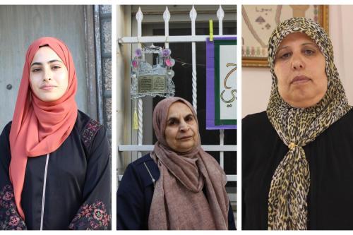 Da esquerda para a direita: Muna al-Kurd, Salwa Skafi e Nuha Attieh [Middle East Eye]