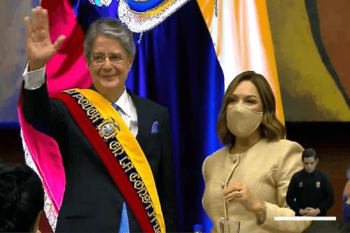 Presidente Lasso é empossado no Equador. Em 24 de maio de 2021 [Secretaría General de Comunicación Ecuador]