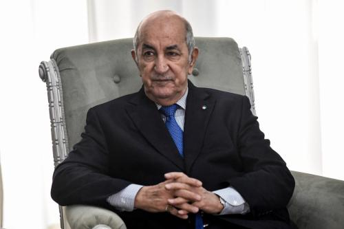 O presidente argelino, Abdelmadjid Tebboune, em Argel, Argélia, em 21 de janeiro de 2020 [Ryad Kramdi/AFP/Getty Images]