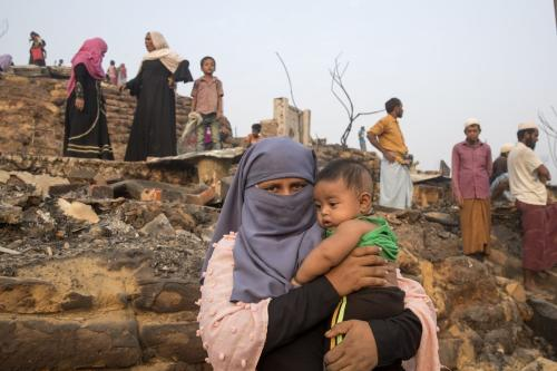 Campo de refugiados rohingya em Ukhia, Bangladesh, 24 de março de 2021 [Stringer/Agência Anadolu]