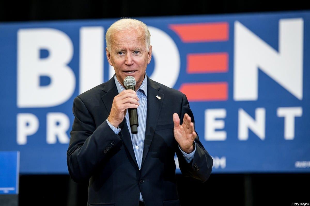 O presidente dos EUA, Joe Biden, na Carolina do Sul, EUA, em 29 de agosto de 2019 [Sean Rayford/Getty Images]