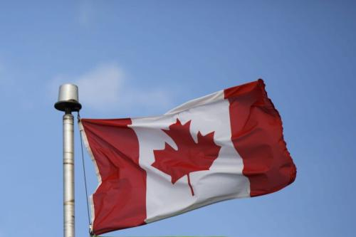 Bandeira canadense [Cole Burston / Bloomberg via Getty Images]