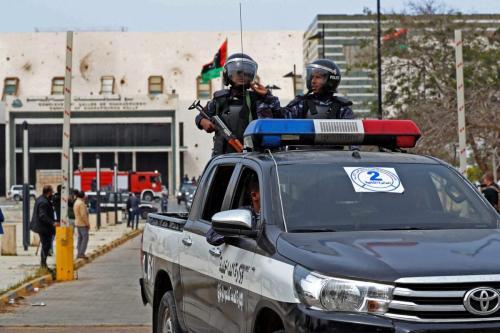 Forças líbias na cidade de Sirte, 10 de março de 2021 [Mahmud Turkia/AFP via Getty Images]