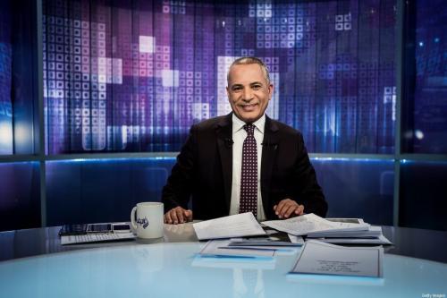 Ahmed Moussa, âncora da emissora Sada El Balad, no Cairo, Egito [David Degner/Getty Images]