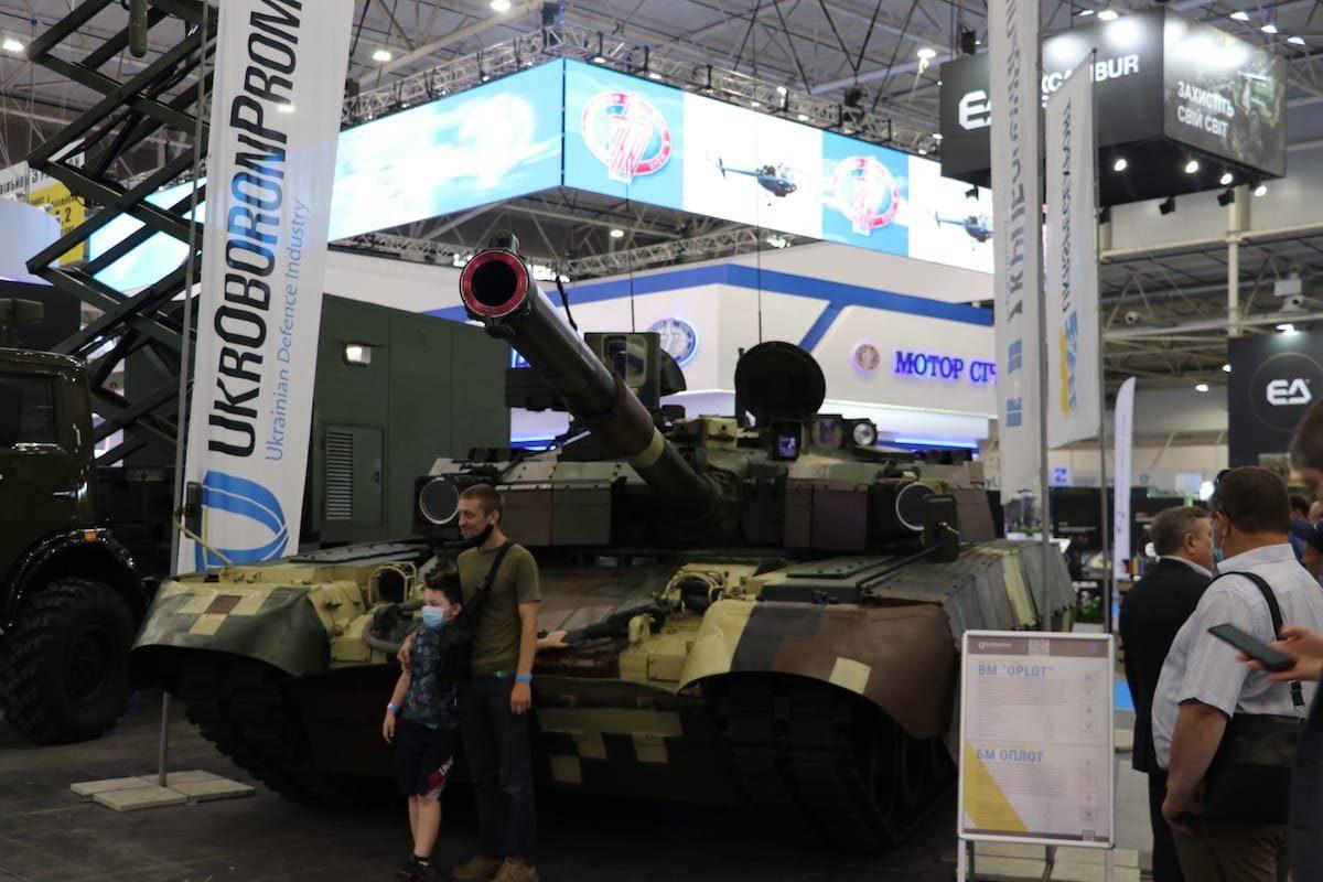 17ª Exposição Internacional Armas e Segurança 2021 e 12ª Salão Internacional de Aviação e Espaço no Centro Internacional de Exposições de Kiev, Kiev, Ucrânia, em 15 de junho de 2021 [Talha Yavuz - Agência Anadolu].