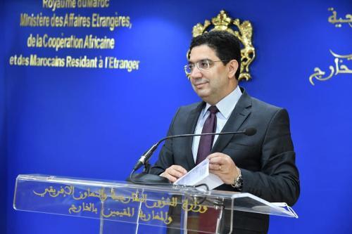 Ministro de Relações Exteriores do Marrocos Nasser Bourita na capital Rabat, 2 de julho de 2021 [Jalal Morchidi/Agência Anadolu]
