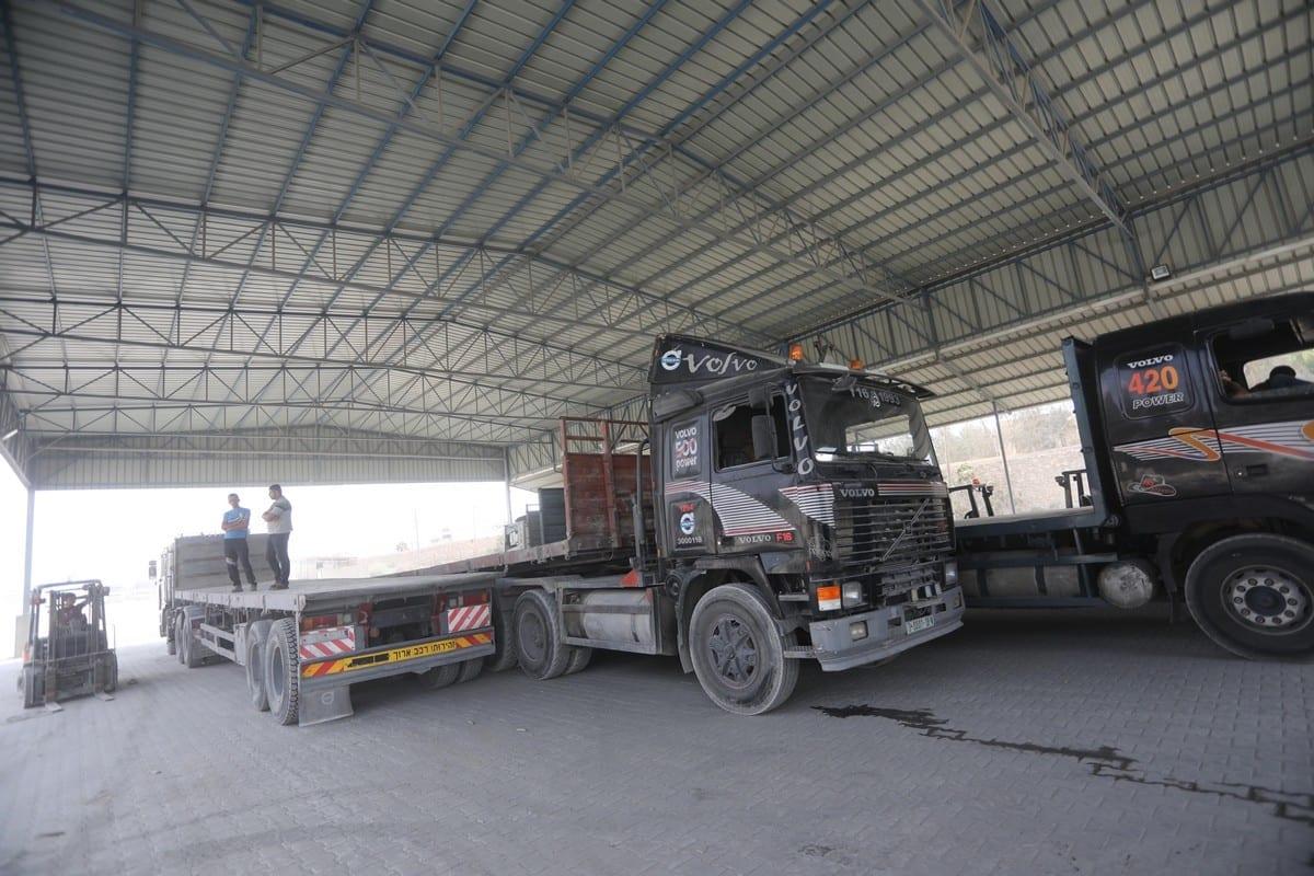 Travessia de Karm Abu Salem (Kerem Shalom), canal fundamental à economia de Gaza, fechada há 33 dias, em 11 de junho de 2021 [Mohammed Asad/Monitor do Oriente Médio]