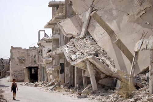 Ruínas de Daraa, Síria, 2 de outubro de 2018 [Mohamad Abazeed/AFP/Getty Images]