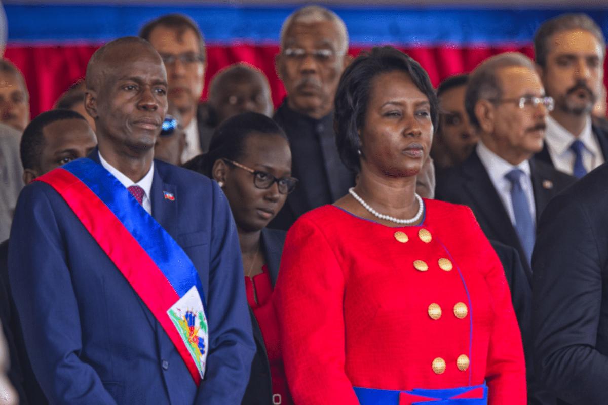 Presidente do Haiti, Jovenel Moïse, com a primeira-dama, Martine Moïse, durante a cerimônia de posse no parlamento, em 9 fevereiro de 2017 [Igor Rugwiza / UN/MINUSTAH]