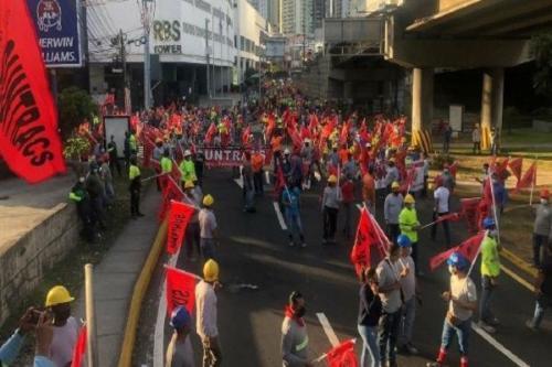 Protestos contra reformas econômicas liberais no Panamá [Twitter/ Suntracs1]
