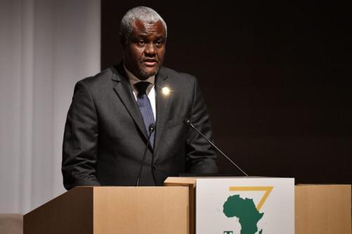 Presidente do Comitê da União Africana, Moussa Faki Mahamat, em Yokohama em 28 de agosto de 2019 [Toshifumi Kitamura/ AFP via Getty Images]