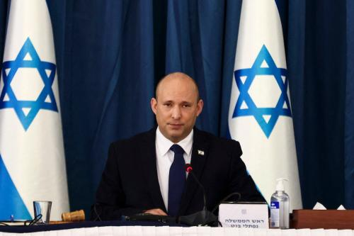 Primeiro-ministro israelense Naftali Bennett em Jerusalém, em 8 de agosto de 2021 [RONEN ZVULUN/POOL/AFP/Getty Images]