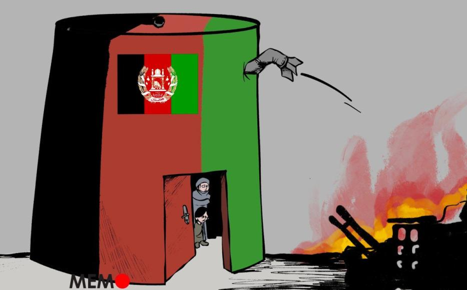 Dezoito milhões de afegãos, metade do país, dependem de ajuda humanitária; cerca de 3 milhões sofreram deslocamentos internos [Sabaaneh/Monitor do Oriente Médio]