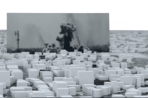Exposição Forensic Architecture na Whitworth Art Gallery da University of Manchester [@ForensicArchi/Twitter]