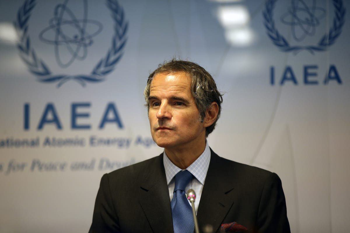 Rafael Mariano Grossi, diretor-geral da Agência Internacional de Energia Atômica (AIEA), durante coletiva de imprensa em Viena, Áustria, 7 de junho de 2021 [Askin Kiyagan/Agência Anadolu]