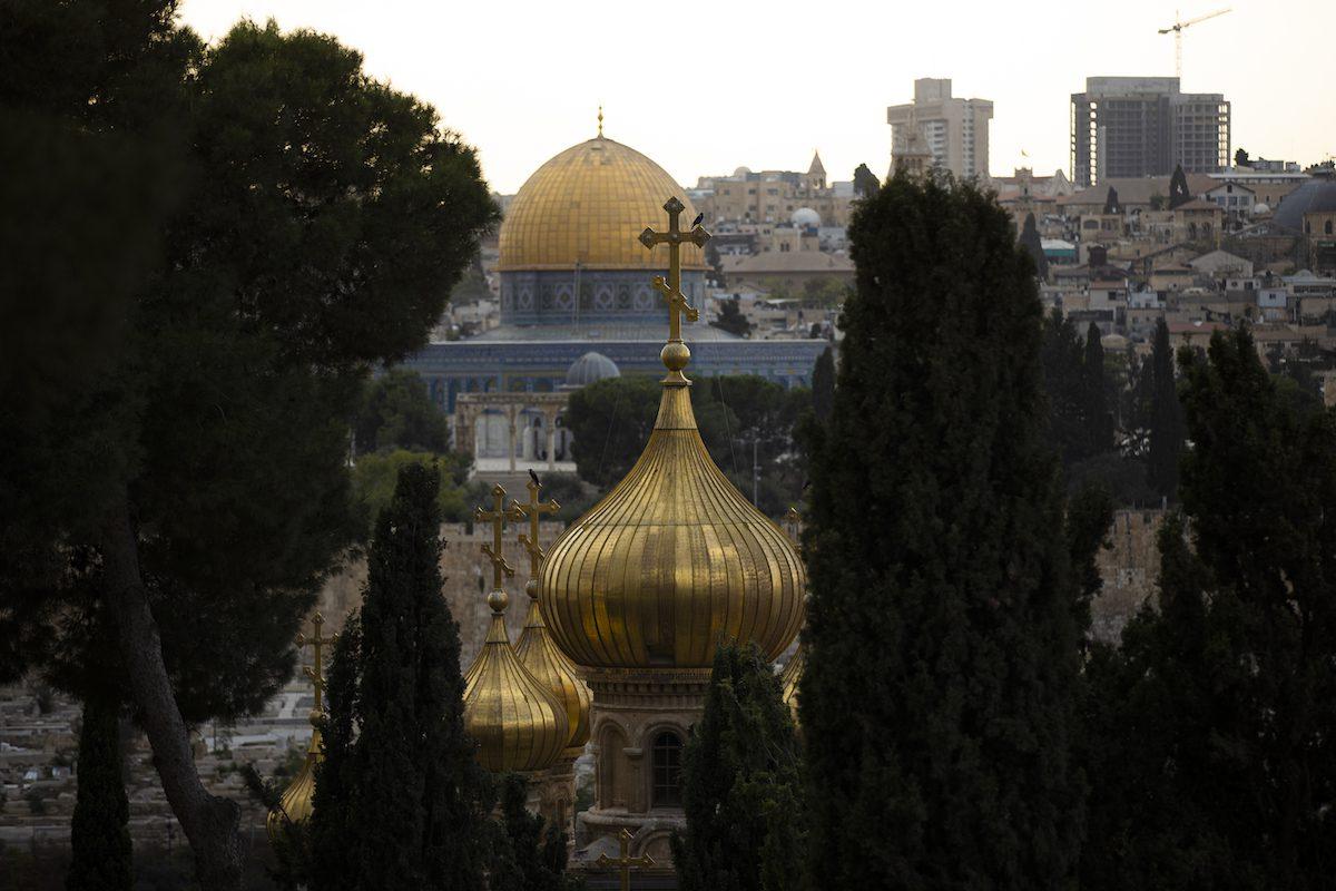 Complexo da Mesquita de Al-Aqsa e da Igreja de Todas as Nações, em Jerusalém ocupada, 12 de outubro de 2021 [Mustafa Alkharouf/Agência Anadolu]