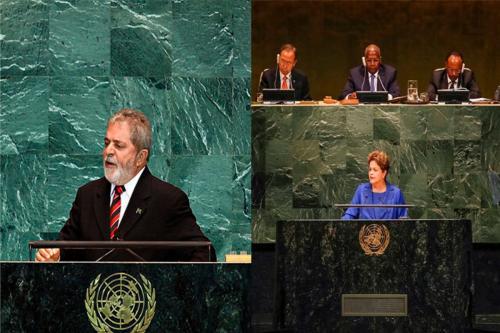 Ex-presidentes em aberturas da ONU [Wikicommons e Divulgação]