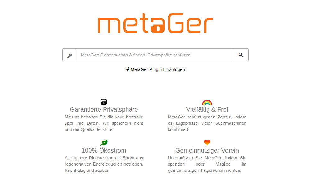 MetaGer Private Search Engines