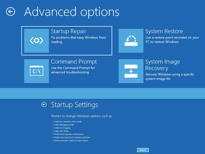 Windows Startup Repair