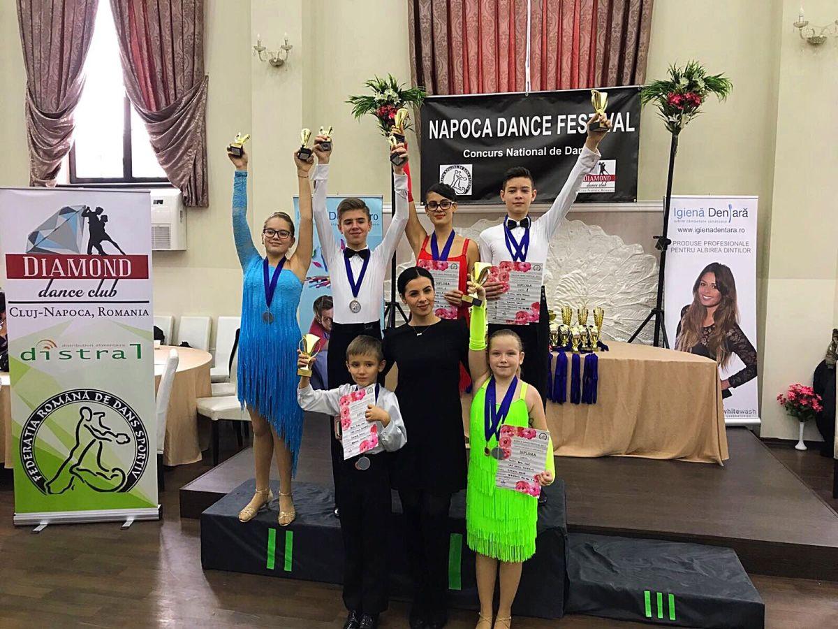 Rezultate notabile ale tinerilor dansatori dorneni la Cluj