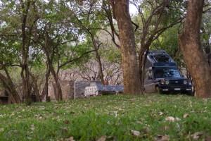 Auf dem Camping der Mvuu-Lodge.