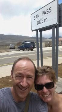 Ein kleines Zwischenziel ist erreicht: Sani-Pass zwischen Südafrika und Lesotho.