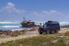 Bei Cape Aghulas, was den südlichsten Punkt Afrikas darstellt.