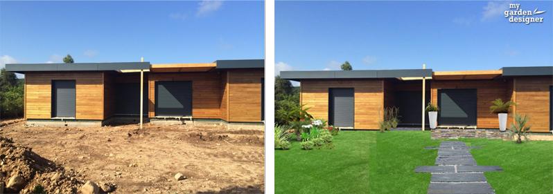 maison design aménagement jardin avant apres