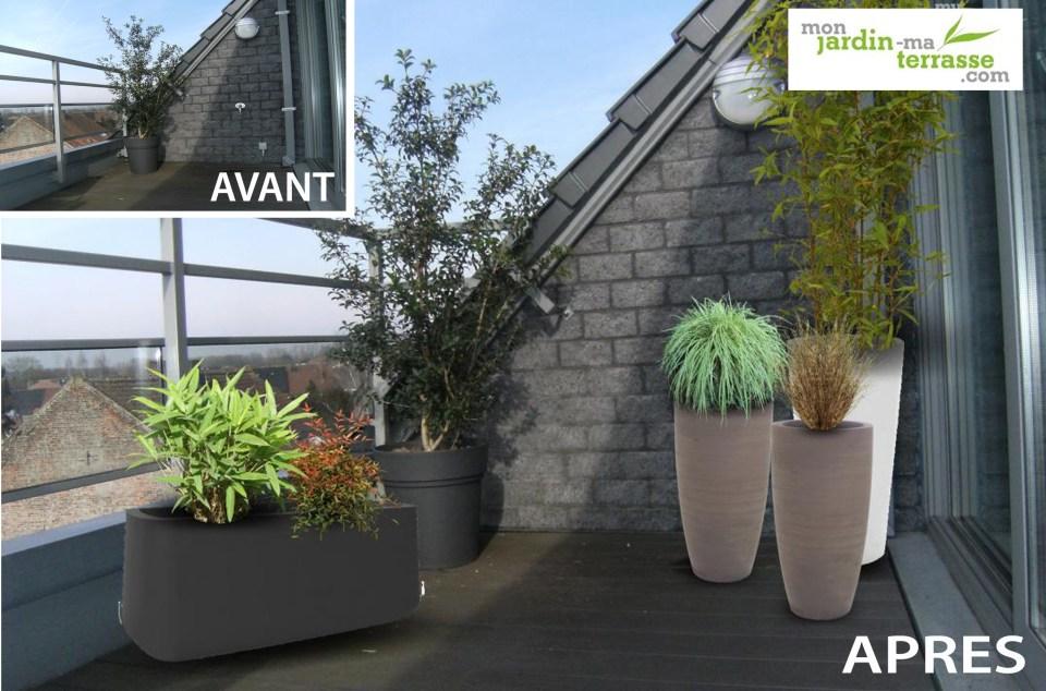 Aménagement d'un balcon-terrasse contemporain