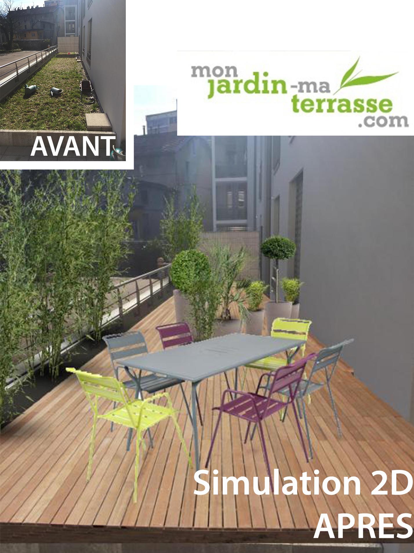 am nagement du toit terrasse d un appartement monjardin. Black Bedroom Furniture Sets. Home Design Ideas