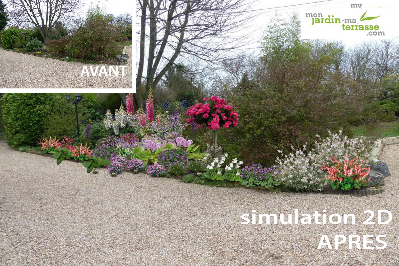 am nager un massif jardin anglais monjardin. Black Bedroom Furniture Sets. Home Design Ideas