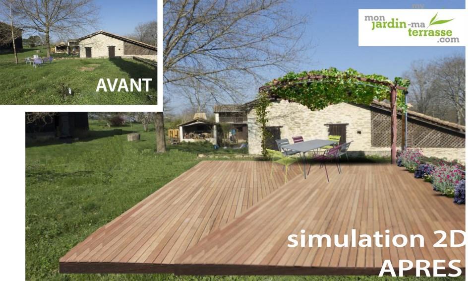 créer une terrasse dans un jardin