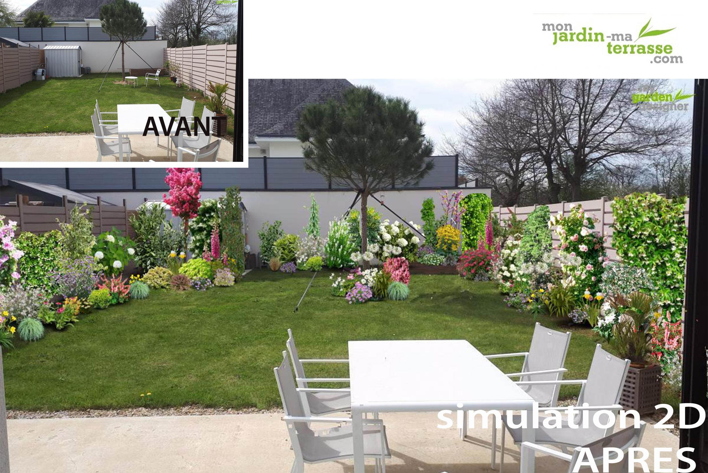 Comment am nager un petit jardin rectangulaire monjardin - Amenagement d un jardin ...