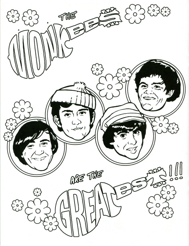 Monkees Coloring Pages Coloring Pages
