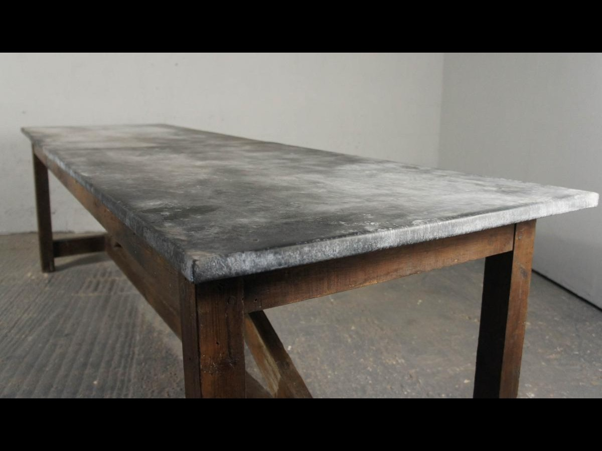 zinc kitchen table organizer ideas vintage industrial island dining modern ...