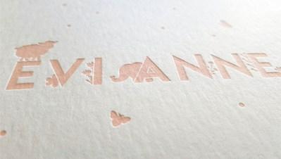 Letterpress Evi Anne