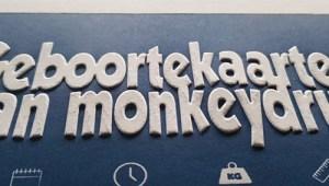 Monkey promotie kaart met preeg
